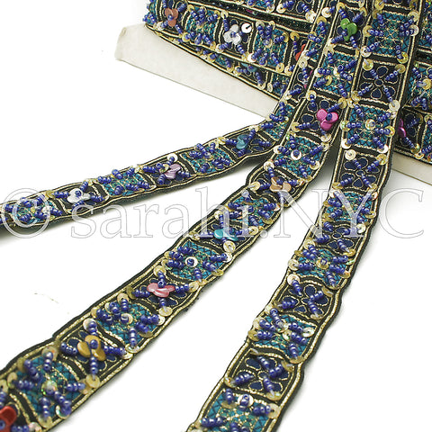 BLUE MULTI RIBBON  TRIM - sarahi.NYC - Sarahi.NYC