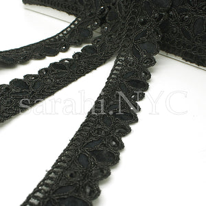 BLACK RHINESTONE EDGING TRIM - sarahi.NYC - Sarahi.NYC