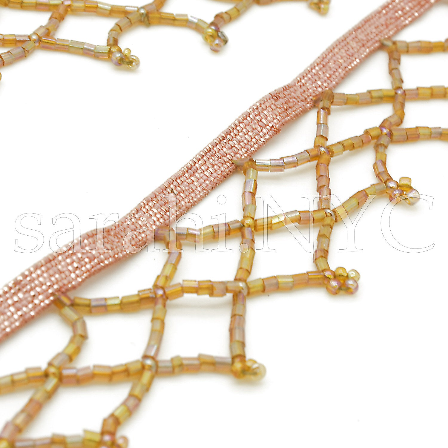 LIGHT BROWN BEADED FRINGE - sarahi.NYC - Sarahi.NYC