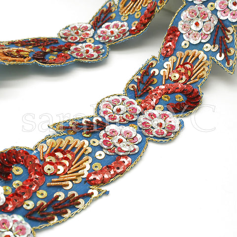 MULTI COLOR FLORAL SEQUIN TRIM - sarahi.NYC - Sarahi.NYC