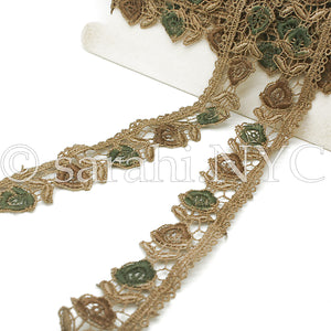 BROWN FOREST LACE EDGING TRIM - sarahi.NYC