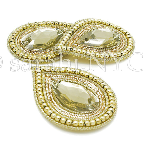 GOLD TEAR DROP MOTIF - sarahi.NYC - Sarahi.NYC