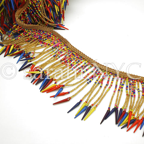 MULTI-COLOR RAINBOW FRINGE EDGING TRIM - sarahi.NYC