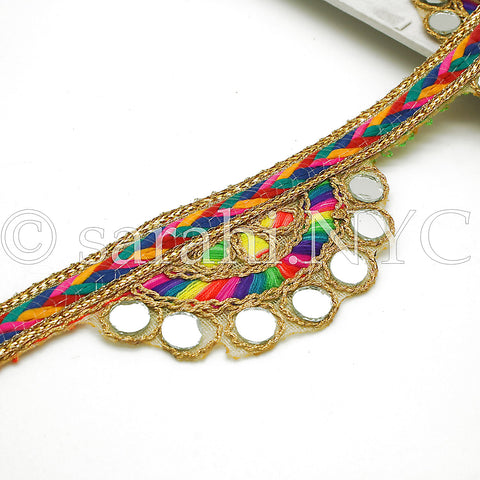 MULTI-COLOR RAINBOW MIRROR EDGING TRIM - sarahi.NYC