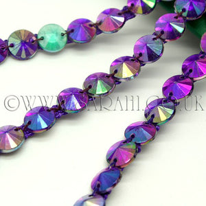 PURPLE CIRCLE RHINESTONE TRIM - sarahi.NYC - Sarahi.NYC