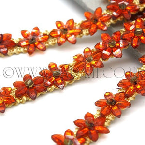 ORANGE  FLORAL  TRIM - sarahi.NYC - Sarahi.NYC