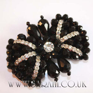 BLACK BEADED BOW MOTIF - sarahi.NYC - Sarahi.NYC