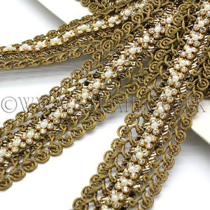 BRONZE CRYSTAL DIAMONTE LACE TRIM - sarahi.NYC - Sarahi.NYC