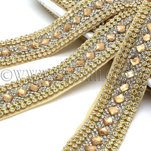 BRONZE GOLD CRYSTAL DIAMONTE  TRIM - sarahi.NYC - Sarahi.NYC