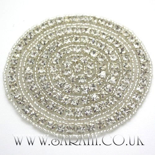SILVER CIRCLE FAUX CRYSTAL APPLIQUE - sarahi.NYC - Sarahi.NYC