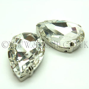 LARGE 30 mm WHITE CLEAR GLASS RHINESTONE GEM - sarahi.NYC - Sarahi.NYC
