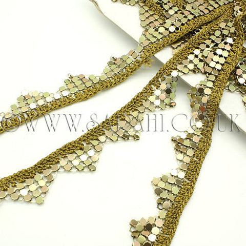 GREEN METALLIC CROCHET TRIM - sarahi.NYC - Sarahi.NYC