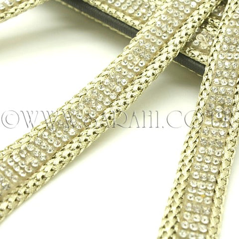 GOLD CRYSTAL WOVEN TRIM - sarahi.NYC - Sarahi.NYC