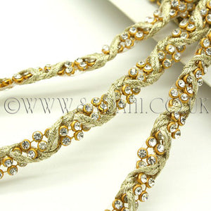 GOLD CRYSTAL TRIM - sarahi.NYC - Sarahi.NYC