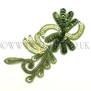 GREEN FLORAL APPLIQUE - sarahi.NYC - Sarahi.NYC