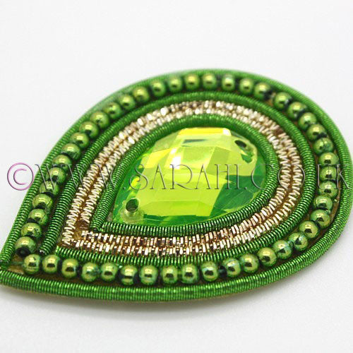 LIME GREEN TEAR DROP  MOTIF - sarahi.NYC - Sarahi.NYC