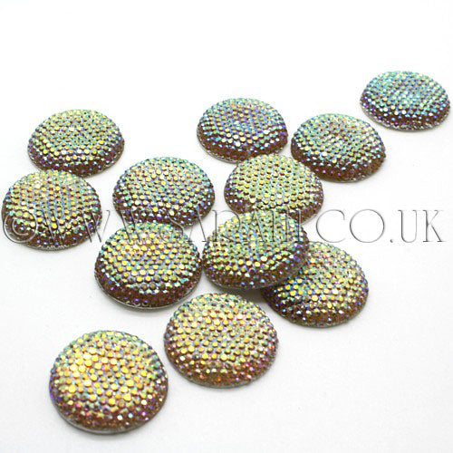 25 mm LARGE CIRCLE RHINESTONE x 10 pieces - sarahi.NYC - Sarahi.NYC