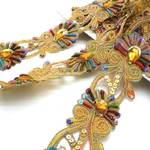MULTI-COLOURED RHINESTONE TRIM - sarahi.NYC - Sarahi.NYC