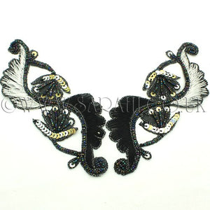 BLACK & WHITE ANGEL WINGS MOTIF - sarahi.NYC - Sarahi.NYC