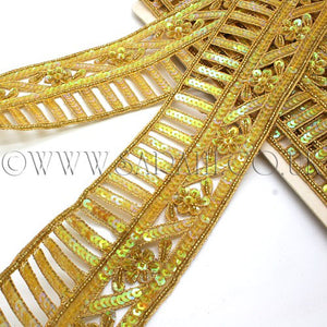 YELLOW SEQUIN TRIM - sarahi.NYC - Sarahi.NYC