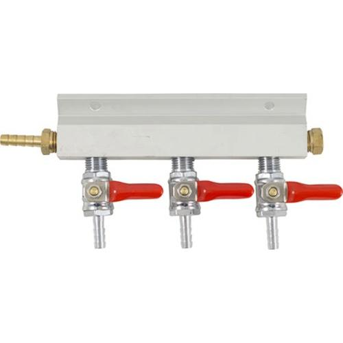 3 Way Gas Manifold - 1/4 in. (Aluminum)