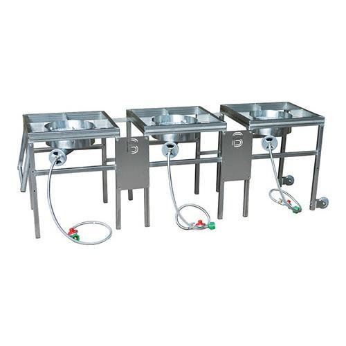Brewmaster Burners & Gas Fittings Complete 3 Burner Propane Brewing Stand