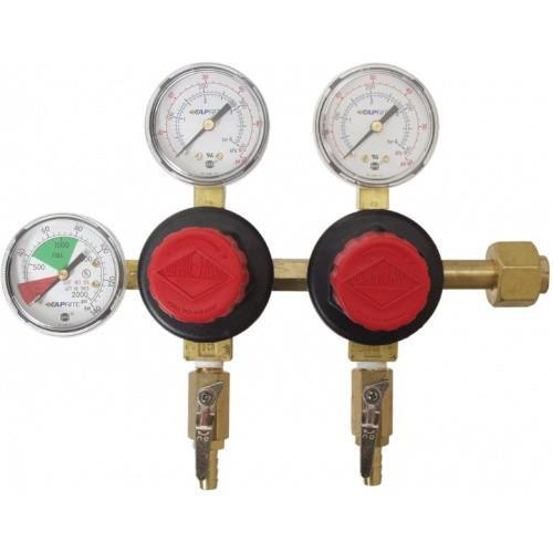 Brewmaster C02 Regulators Taprite CO2 Regulator - Dual Body - Three Gauge