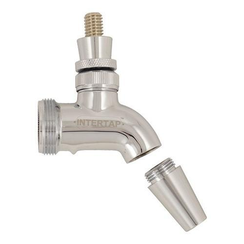 Brewmaster Draft Beer Faucets Intertap Forward Sealing Chrome Plated Faucet