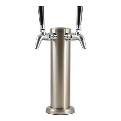 Brewmaster Draft Beer Towers 2 Tap Stainless Draft Tower With Intertap Faucet