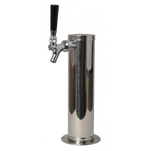 Brewmaster Draft Beer Towers 3 In Draft Tower with Chrom Spigot - 12 in High