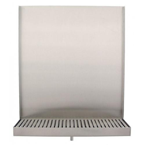 "Brewmaster Drip Trays Deluxe Drip Tray - 13"" Wall Mount (Back Splash & Drain)"