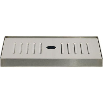 "Brewmaster Drip Trays Deluxe Stainless Drip Tray - 8.25"" Counter Top"
