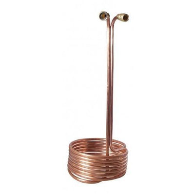 "Brewmaster Immersion Wort Chillers Pre-Chiller 25' x 1/2"" Wort Chiller with Brass Fittings"