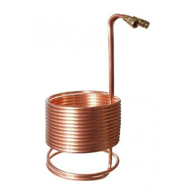 "Brewmaster Immersion Wort Chillers SuperChiller Immersion Wort Chiller 50' x 1/2"" with Brass Fittings"