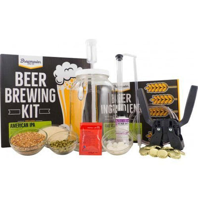 Brewmaster Ingredient Kits - 1 Gal 1 Gallon Homebrew Starter Kit (Includes American IPA Recipe Kit)