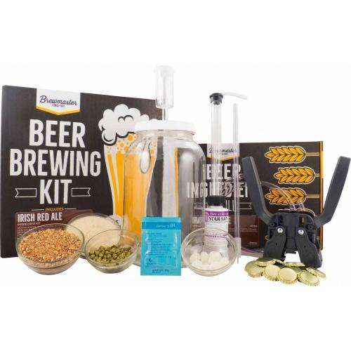 Brewmaster Ingredient Kits - 1 Gal 1 Gallon Homebrew Starter Kit (Includes Irish Red Ale Recipe Kit)