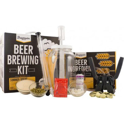 Brewmaster Ingredient Kits - 1 Gal 1 Gallon Homebrew Starter Kit (Includes Summer Wheat Recipe Kit)