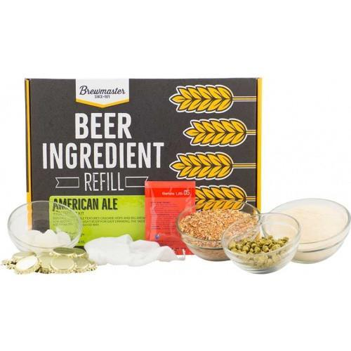 Brewmaster Ingredient Kits - 1 Gal Beer Ingredient Refill Kit (1 Gal) - American Ale