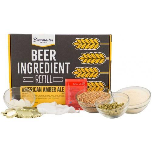 Brewmaster Ingredient Kits - 1 Gal Beer Ingredient Refill Kit (1 Gal) - American Amber