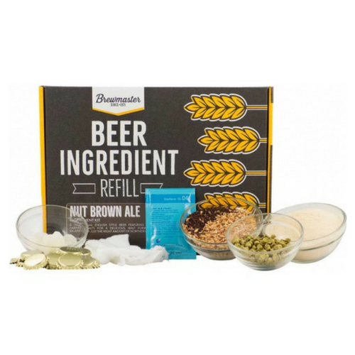 Brewmaster Ingredient Kits - 1 Gal Beer Ingredient Refill Kit (1 Gal) - Nut Brown Ale