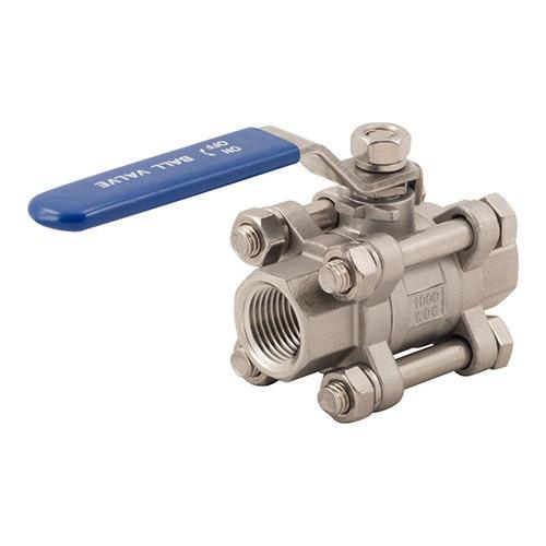 "Brewmaster Stainless Ball Valves Stainless Ball Valve - 1/2"" - 3 Piece"