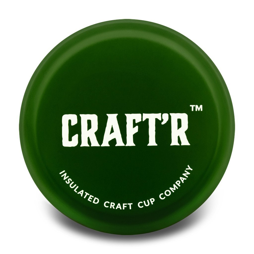 Craft'r Insulated Cup Company Freedom Edition CRAFTR Cup CRAFTR Beer Cup Matte Green