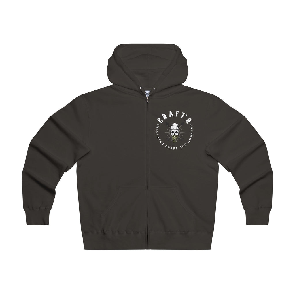 CRAFTR Hoodies Black / XS CRAFTR Logo Lightweight Zip Beer Hoodie