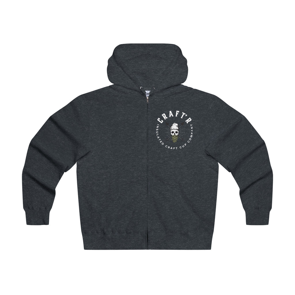 CRAFTR Hoodies Charcoal Heather / XS CRAFTR Logo Lightweight Zip Beer Hoodie
