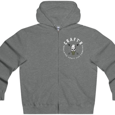 CRAFTR Hoodies Gunmetal Heather / XS CRAFTR Logo Lightweight Zip Beer Hoodie