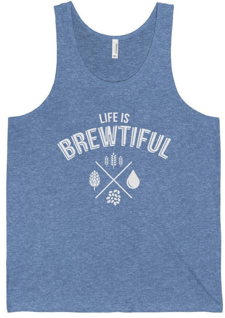 CRAFTR Mens Tanks Blue TriBlend / S Brewtiful Mens Jersey Tank (7 Colors Available)