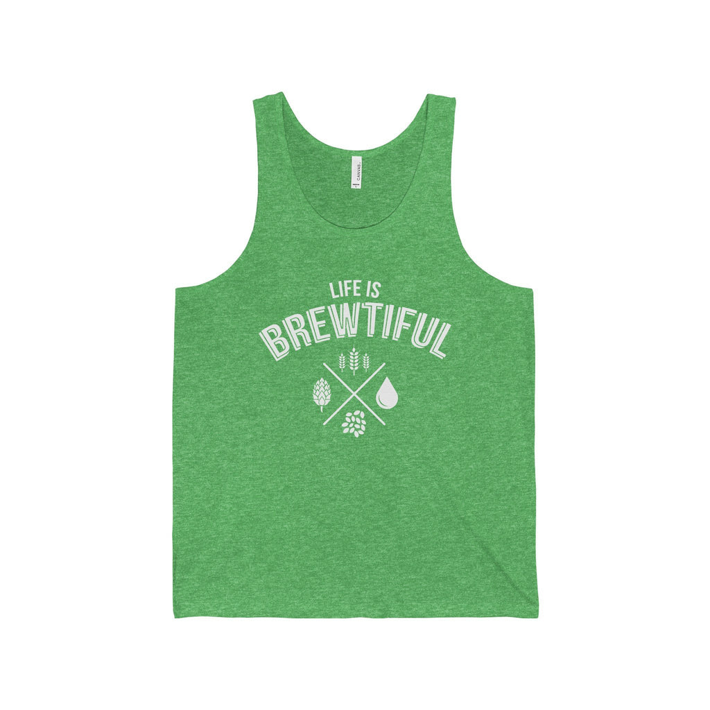 CRAFTR Mens Tanks Green TriBlend / S Brewtiful Mens Jersey Tank (7 Colors Available)