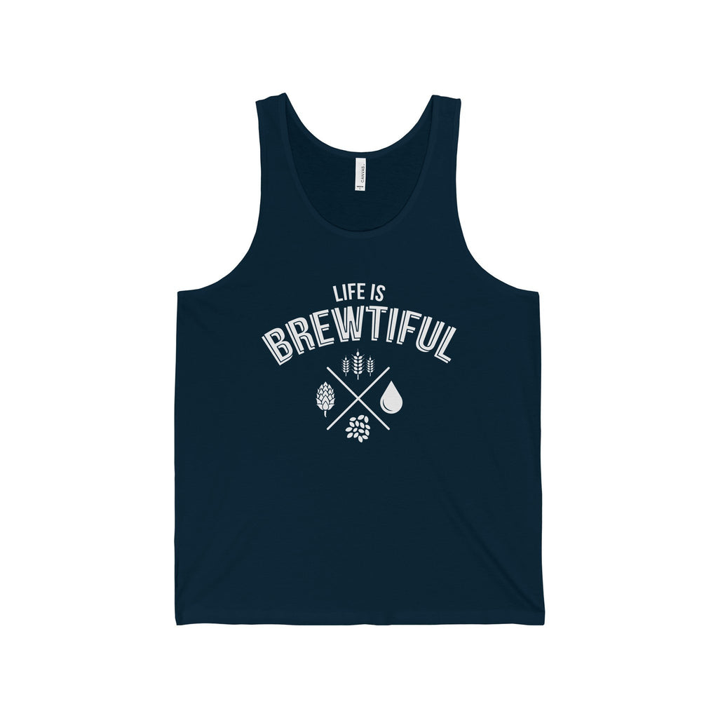 CRAFTR Mens Tanks Navy / S Brewtiful Mens Jersey Tank (7 Colors Available)
