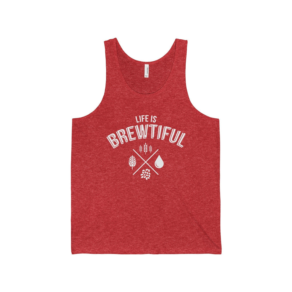 CRAFTR Mens Tanks Red TriBlend / S Brewtiful Mens Jersey Tank (7 Colors Available)