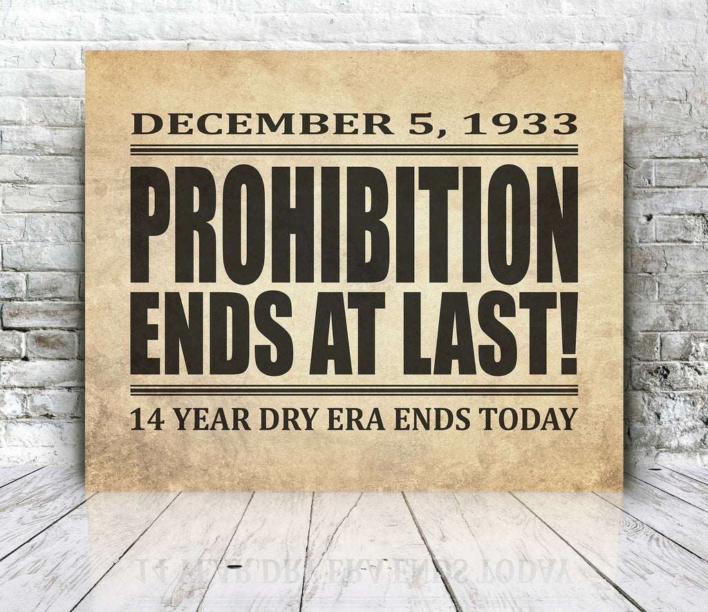 Printify Canvas Prints Prohibition Canvas Print
